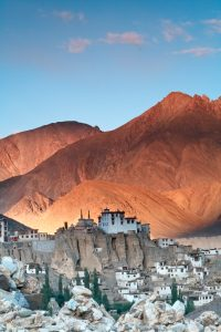 Lamayuru Gompa of Ladakh, belonging to the Red Hat sect of Buddhism, serves as the residence of approximately 150 monks. andBeyond snow leopard expedition