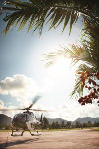 segara Kommunikation PR Agentur München Raffles Seychelles Helikopter