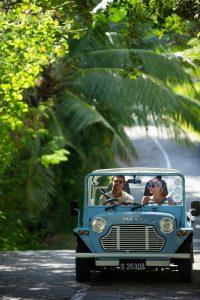 segara Kommunikation PR Agentur München Tourismus Raffles Seychelles Praslin Seychellen Mini Moke Abenteuer