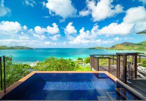 segara Kommunikation PR Agentur München Raffles Seychelles Villa Pooldeck