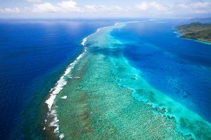 Laucala_Island_segara_PR_Agentur_München_reef_barrier_aerial