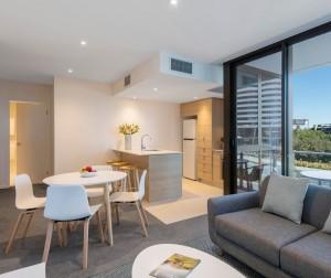 AVANI Broadbeach Residences 1 bedroom premier ocean suite livingroom