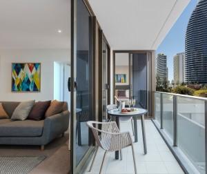 AVANI Broadbeach Residences 2 bedroom premier ocean suite livingroom
