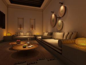 Al Bait Sharjah Guestroom Livingroom Detail