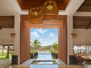 AVANI Quy Nhon  Lobby Wood and Water Features