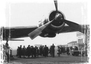 Bayerisches Pilgerbüro Archivbild Flugreise ins Heilige Land Mitte der 1950er Jahre Copyright bp-Archiv