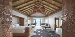 Fairmont Maldives Sirru Fen Fushi Water Villa  Premium Bedroom