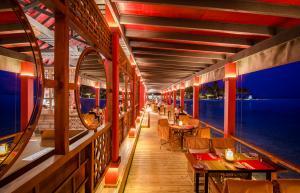 Finolhu Restaurant Kanusan Night