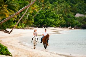 Laucala Island activity horseback riding