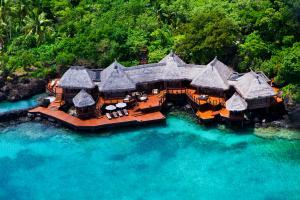 Laucala Island overwater villa aerial 1