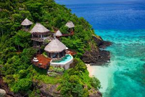 Laucala Island peninsula villa aerial 4