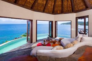 Laucala Island peninsula villa lounge 3