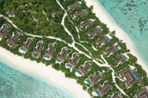 PullmanMaldivesMaamutaa beachvillas aerial