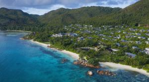 Raffles Seychelles Aerial Coastline