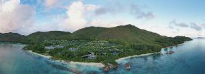 Raffles Seychelles Aerial Panorama