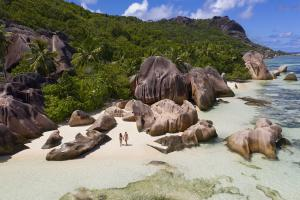 Raffles Seychelles Lifestyle Excursions Beach Couple