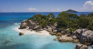 Raffles Seychelles Lifestyle Excursions Drone coast