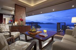 Raffles Seychelles Two Bedroom Ocean View Villa Living Room