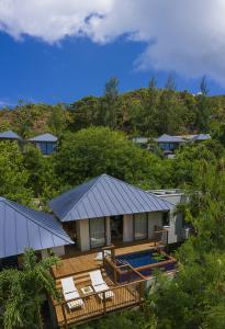 Raffles Seychelles Villas Garden Villa Drone Exterior