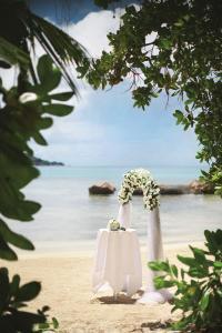 Raffles Seychelles Wedding Arch