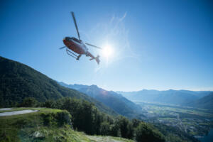 Rustico del Sole Table for two Helicopter Flug