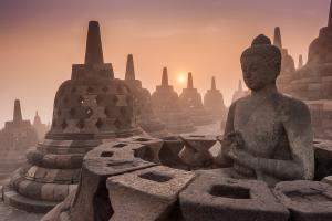 Sens Asia Travel Indonesien Java Yogyakarta  Borobudur temple