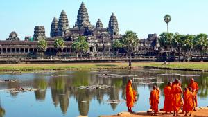 Sens Asia Travel Kambodscha Monks Angkor Wat