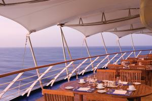 Silversea Cruises Culinary&Wine Restaurant Outdoors railing