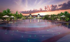Uga Bay by Uga Escapes Pool Facade at Twilight