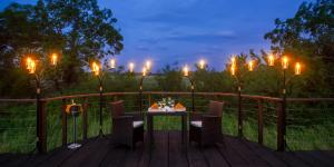 Ulagalla by Uga Escapes  Ulagalla - Private Dining Setup at the observation deck