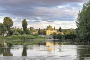 Villa La Massa from the Arno river