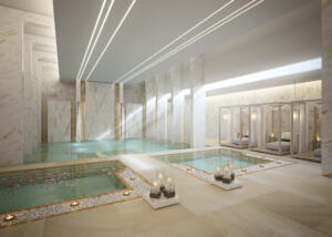 Zulal Wellness Resort Rendering Water Therapy Suite